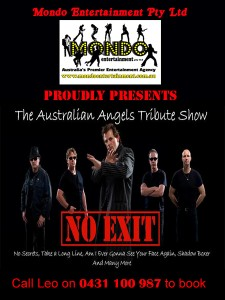 NO EXIT - A TRIBUTE TO THE ANGELS with Mondo Logo