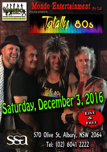 TOTALLY 80S - SS&A CLUB 031216